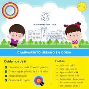 Campamento urbano Coria, Verano 2020