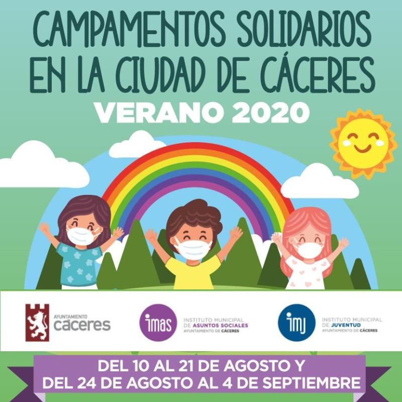 Campamentos Solidarios en la Ciudad de Cáceres - Verano 2020